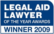 Winner at the 2009 Legal Aid Lawyer of the Year Awards.